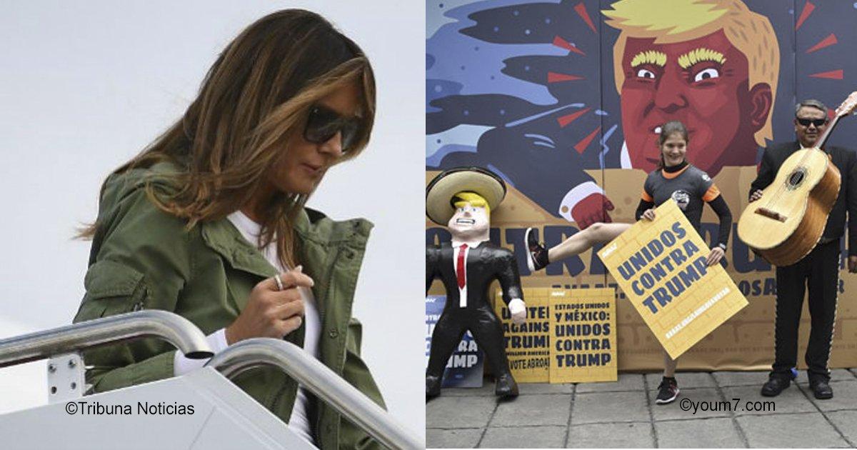 vaagustar 1.jpg?resize=648,365 - Melania vuelve a causar polémica con su chaqueta que insulta a México y al mundo