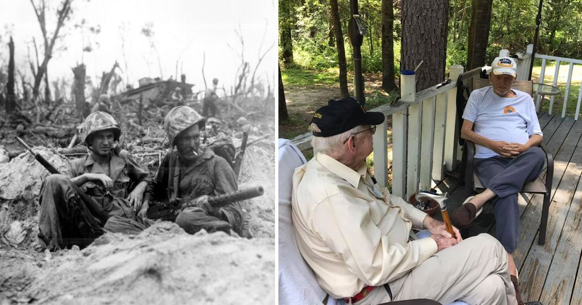 war veteran keeps his final promise he made to a fellow marine 49 years ago while under fire in vietnam.jpg?resize=1200,630 - War Veteran Kept His Promise To A Fellow Marine 49 Years Ago And Contacted Each Other Every New Year