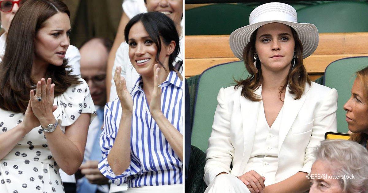 wimb.jpg?resize=1200,630 - Nem Meghan Markle nem Kate Middleton. Emma Watson rouba a cena com sua roupa em Wimbledon!