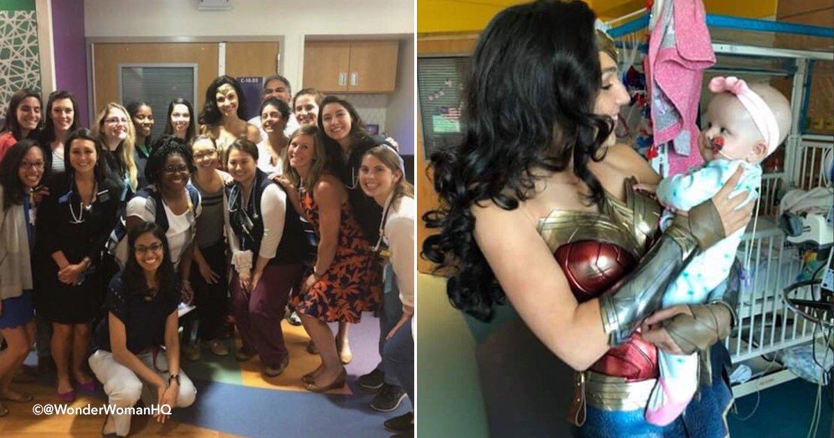 "wonderwoman.jpg?resize=648,365 - Gal Gadot Visita hospital de niños vestida como ""La Mujer Maravilla"""