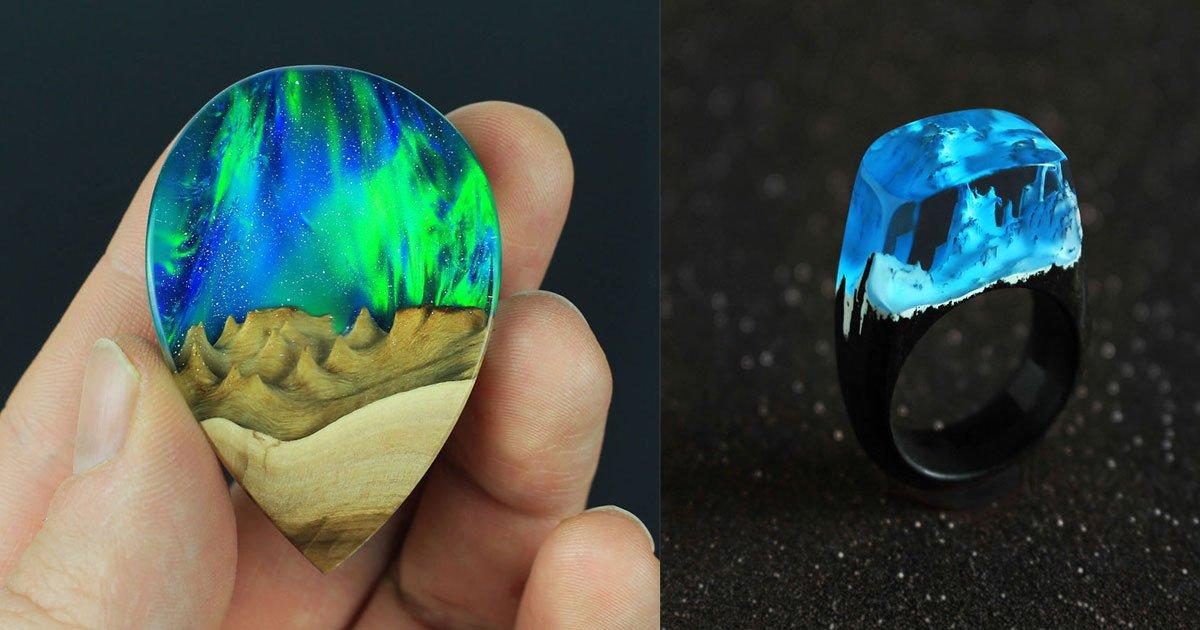 wood all good jewellery 11.jpg?resize=300,169 - Un artiste combine le bois avec l'opale et la résine pour créer des bijoux uniques faits à la main