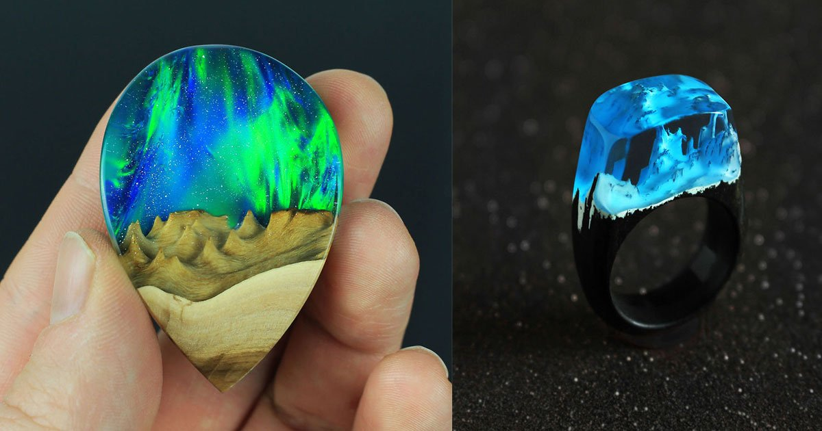 wood all good jewellery 11.jpg?resize=574,582 - An Artist Combines Wood With Opal And Resin To Create One-Of-A-Kind Handmade Jewelry