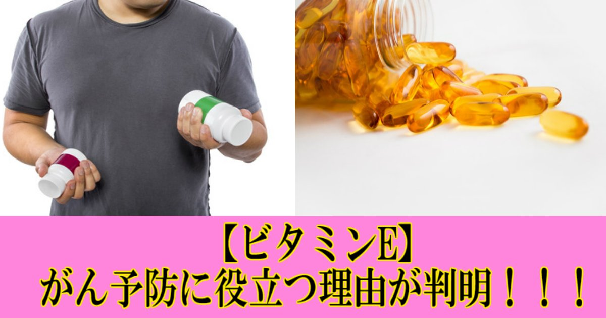 2 8.jpg?resize=1200,630 - 【健康】ビタミンEががん予防に役立つ理由が判明!!!