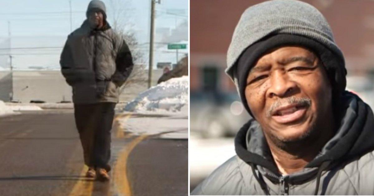 21 miles.jpg?resize=412,232 - 350 000 $ pour un homme faisait plus de 33 km à pied par jour pour aller travailler pendant plus de 10 ans
