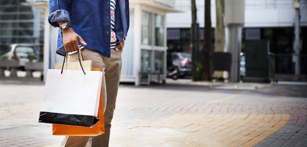 Man Shopping Spending Customer Consumerism Concept
