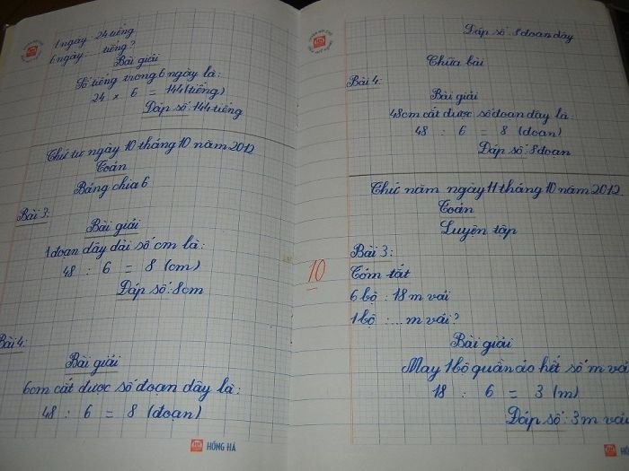 This Is The Homework Of An 8-Year-Old Vietnamese Girl Whose Family I Stayed With In Hanoi. She Got A 10/10
