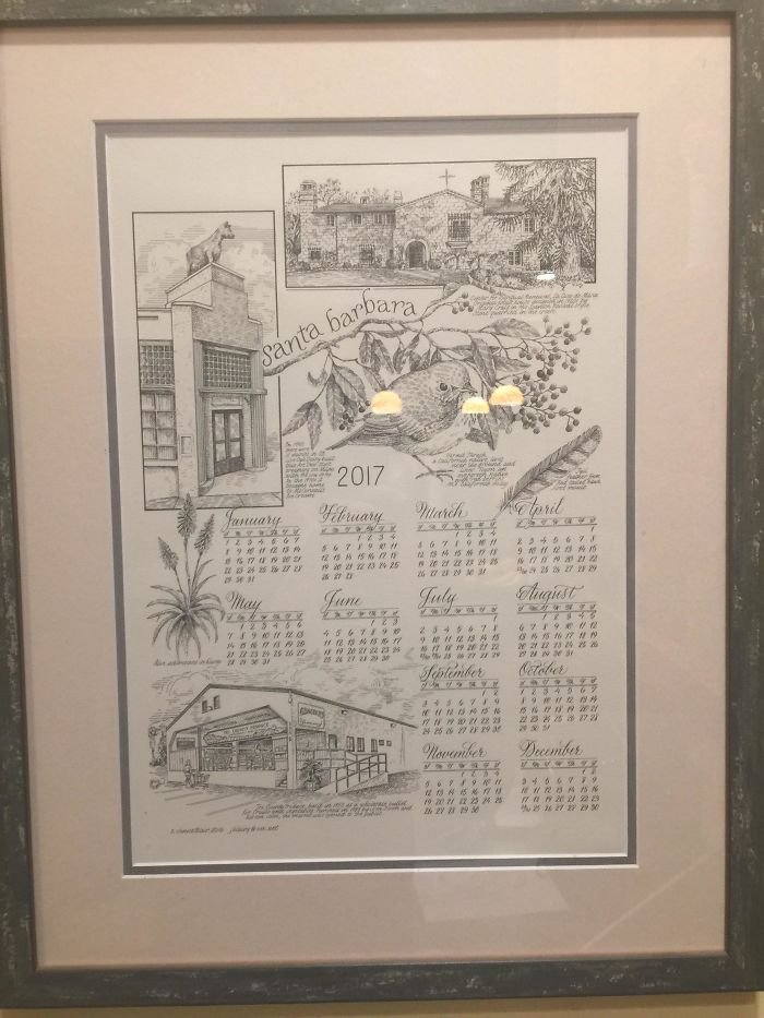 My Grandma Makes A Calendar Every Year, All By Hand