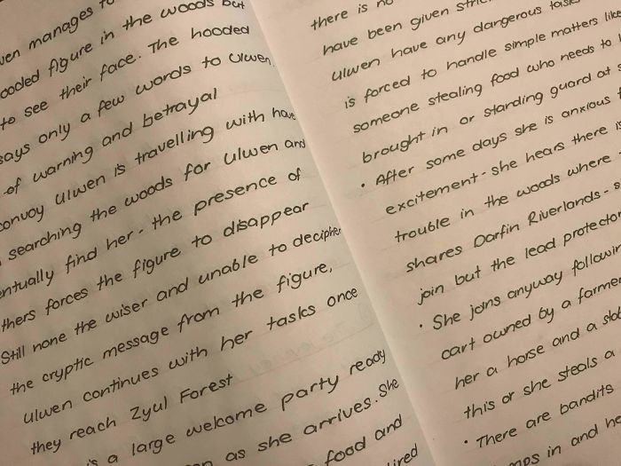 I've Been Told My Writing Is Like A Font