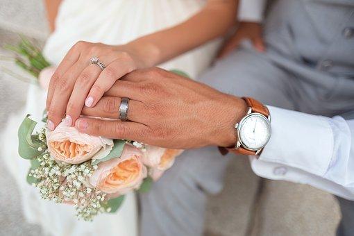 신부, 커플, 신랑, 손, 잡고 손, 사랑, 남자, 결혼, 파트너