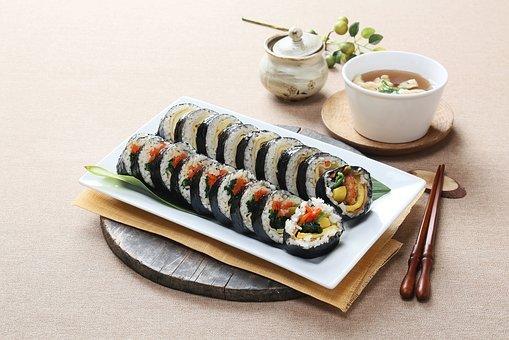 음식사진, 한식, 김밥, 영등포우동