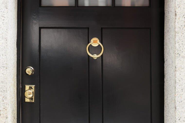 Front door, close up