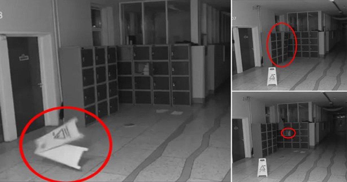 a 7.jpg?resize=648,365 - [Vidéo] Une caméra de vidéosurveillance capture les exactions d'un «fantôme» dans le couloir d'une école irlandaise.