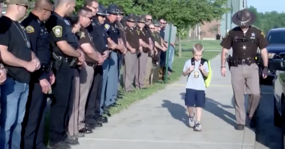 a.png?resize=636,358 - Cops Escort 5-Year-Old To School After His Father Gets Killed In Line Of Duty