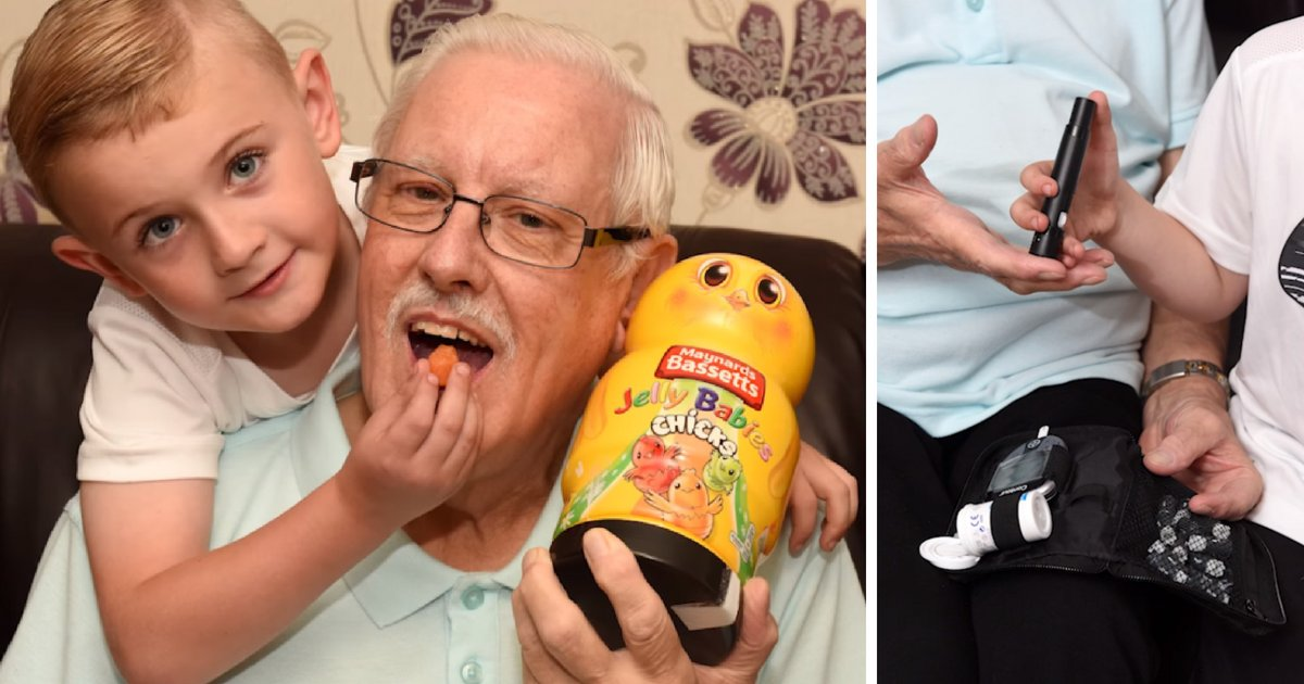 aiden6.png?resize=412,232 - Un garçon de 6 ans sauve la vie de son grand-père en le nourrissant de bonbons en gelée juste à temps