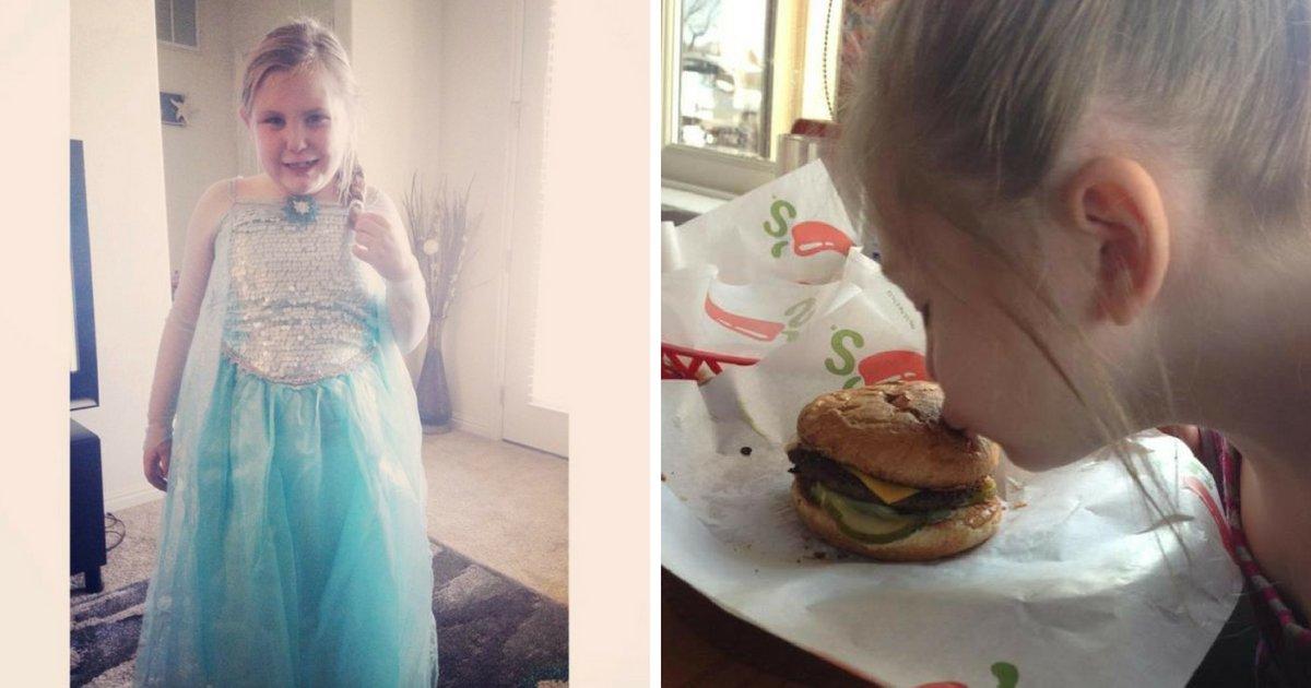 arianna5.png?resize=636,358 - Une fillette atteinte d'autisme est sauvée d'une crise après la réaction d'une serveuse à son cheeseburger «brisé»