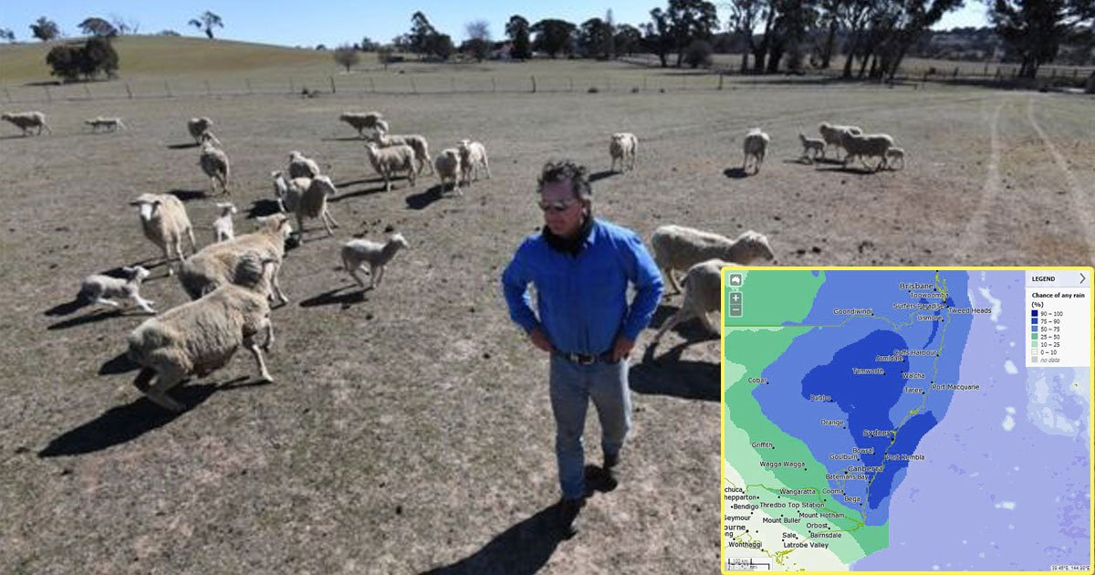 australia rain.jpg?resize=412,232 - Un mois de pluie devrait inonder l'Australie en deux jours seulement