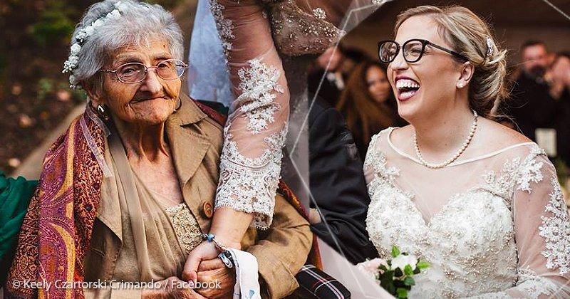 b2916392 79ed 410b a7ec 2dbb80856fee.jpg?resize=412,232 - Vestida de fada, avó entra de forma linda no casamento da neta e emociona a todos