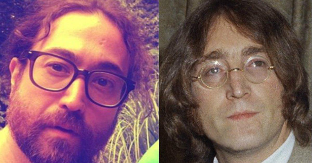 beatle sons.jpg?resize=636,358 - A Internet ficou chocada com a semelhança dos filhos de John Lennon e Paul McCartney com os seus pais