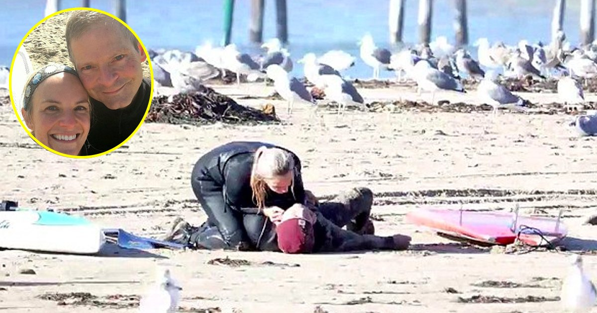 bgaaa.jpg?resize=636,358 - A Surfer Collapses On The Beach And Is Then Saved By Her Girlfriend Who Kisses Him To Perform CPR