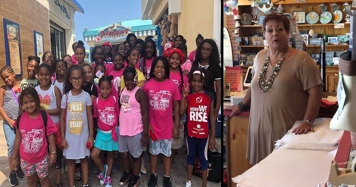 black girls new jersy ask leave 4.jpg?resize=412,275 - Young Girls Were Kicked Out Of An Aquarium Gift Shop By Employee But Rude Lady Did Not Win
