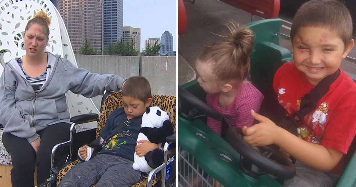 boy bullied.jpg?resize=412,232 - Un petit garçon autiste se retrouve avec un bras cassé et un oeil lacéré après avoir résisté aux brutes qui l'ont agressé