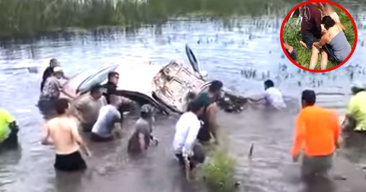 bystander rescued a man after his car crashed into lake in florida us.jpg?resize=636,358 - Bystanders Rescued A Man After His Car Crashed Into Lake In Florida