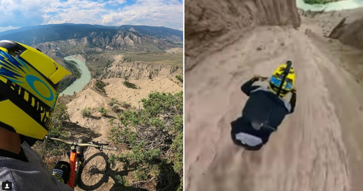 canyon ride.jpg?resize=636,358 - This Guy Filmed With GoPro Riding A Bike Down Steep Canyon. Your Knees Will Shake, Palms Will Get Sweaty Watching It