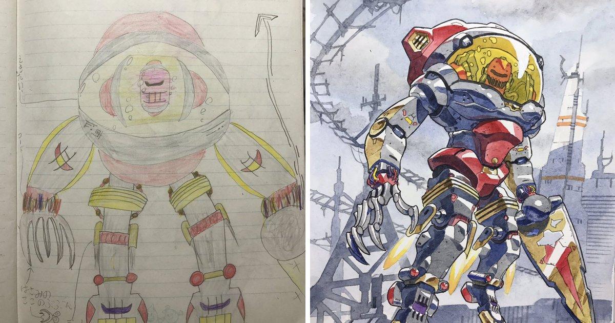 capa00000tuuu.png?resize=412,232 - Pai ilustrador transforma os desenhos dos filhos em obras de arte