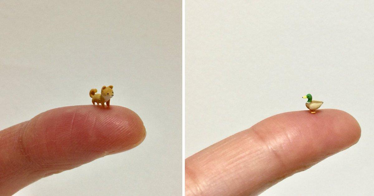capa764894.png?resize=1200,630 - Artista japonês cria animais feitos de argila em miniatura e eles são a coisa mais adorável que você verá hoje