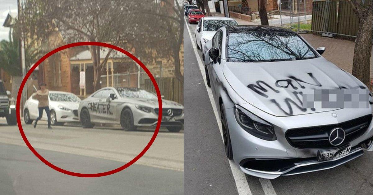 cheater.jpg?resize=1200,630 - Mulher picha ''traidor'' na Mercedes Benz de luxo de ex-namorado