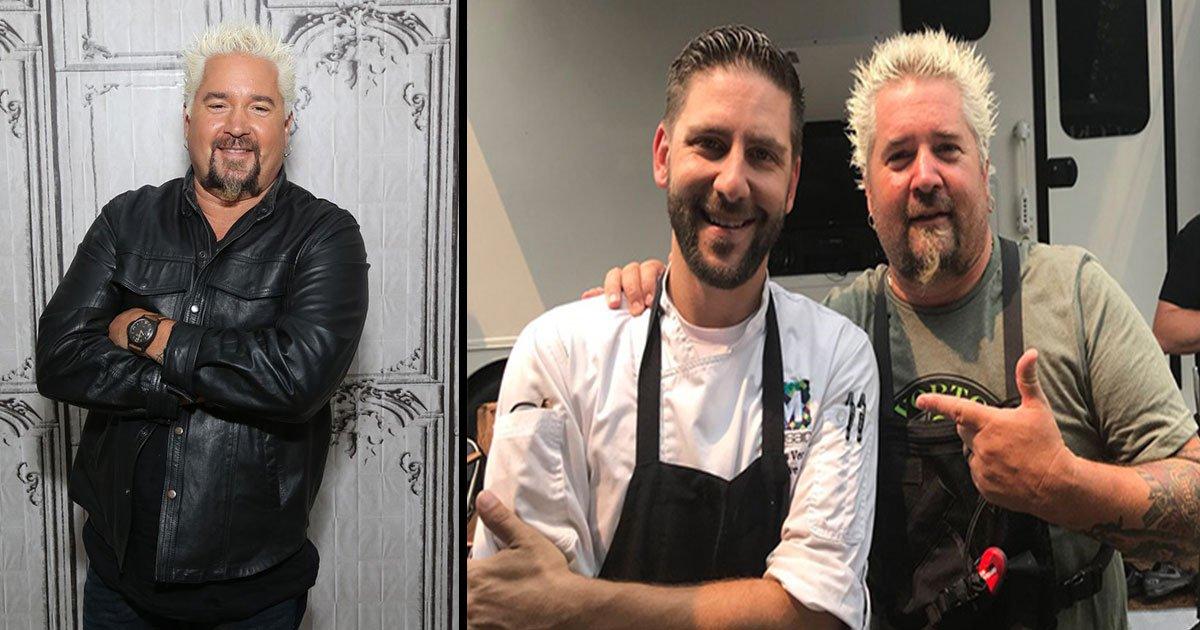 chef preparing food california evacuees 3.jpg?resize=1200,630 - Celebrity Chef Guy Fieri Is Volunteering To Help Feed California Wildfire Evacuees