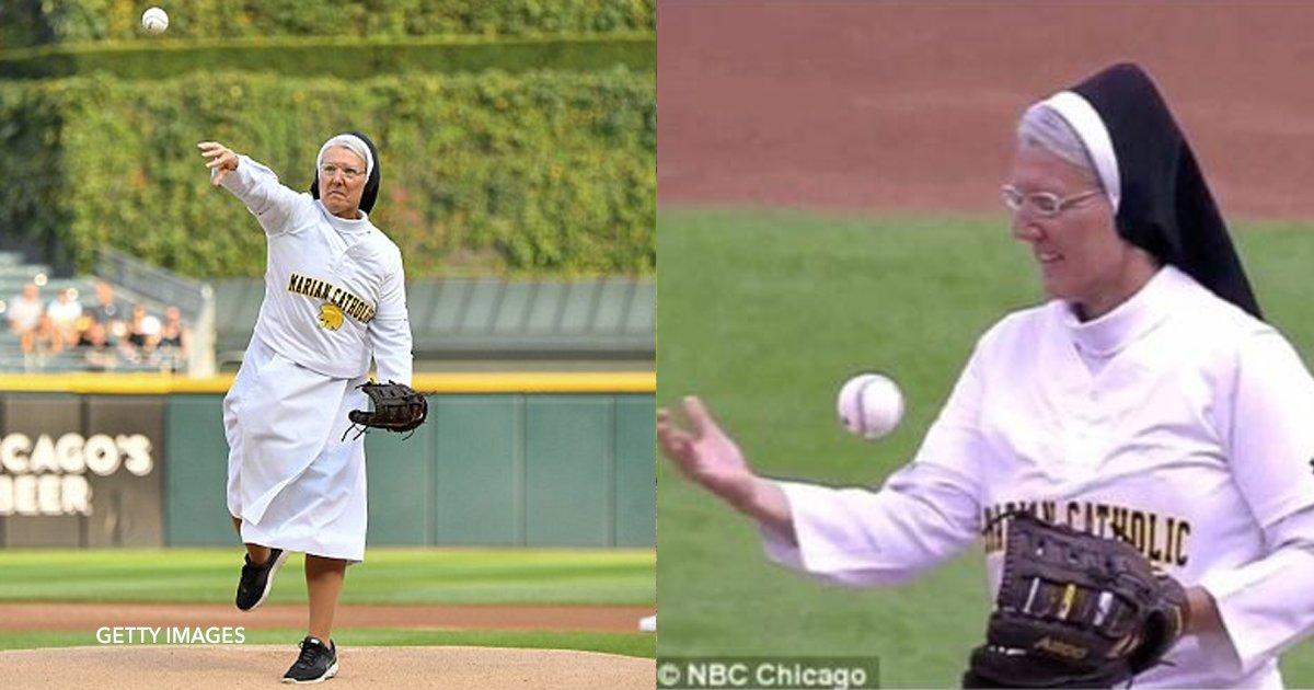 cover22 4.png?resize=1200,630 - Uma freira é escolhida para realizar o primeiro arremesso em um jogo de beisebol e causa sensação na Internet
