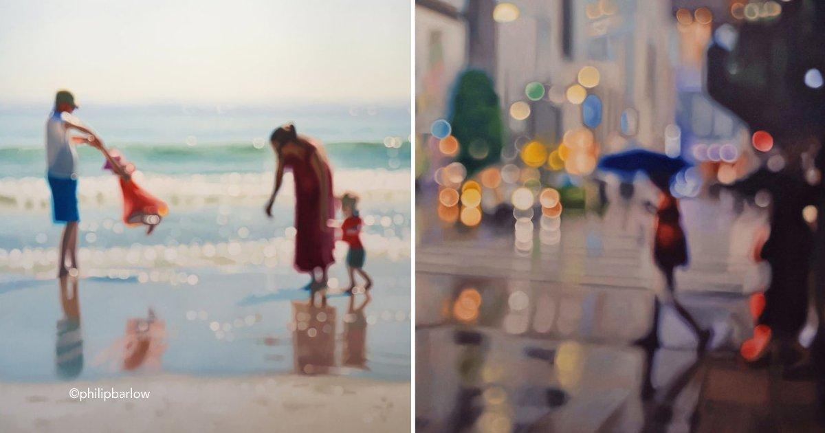 cover rain.jpg?resize=648,365 - Estas pinturas al óleo ilustran como ven el mundo las personas con problemas de visión cuando se quitan sus lentes