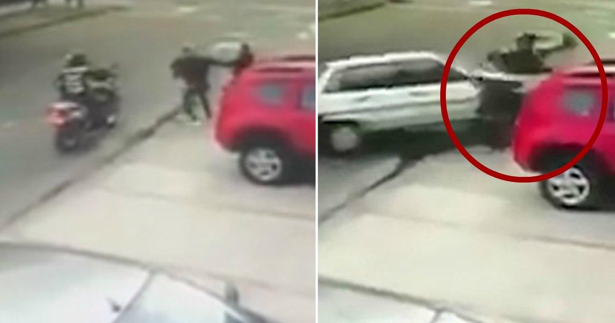 crash.jpg?resize=412,232 - Hero Driver Risks His Life And Smashes Into Thieves Who Robbed Guy At Gunpoint