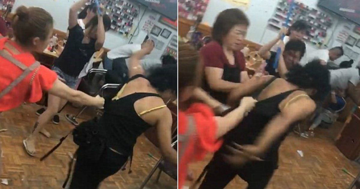 customer beaten.jpg?resize=636,358 - Nail Salon Workers Hit Customer With Dustpans and Broom As Fight Breaks Out Over Failed Eyebrow Job