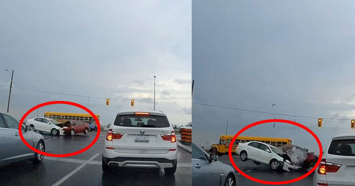 dashcam footage shows two cars collide at an intersection as one vehicle attempt to make a left turn.jpg?resize=636,358 - Dashcam Footage Shows Two Cars Collide At An Intersection As One Vehicle Attempted To Make a Left  Turn