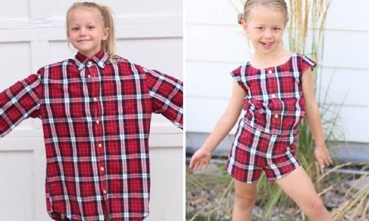 destaque 90 758x455.jpg?resize=412,232 - Mãe usa camisas antigas para fazer vestidos para as filhas e o resultado é incrível