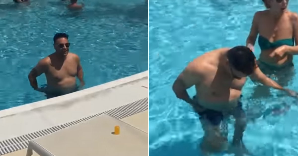 1bd55ba723 Hilarious Prank Shows A Guy Wearing Dissolving Swim Shorts Given By His  Friends For Holiday