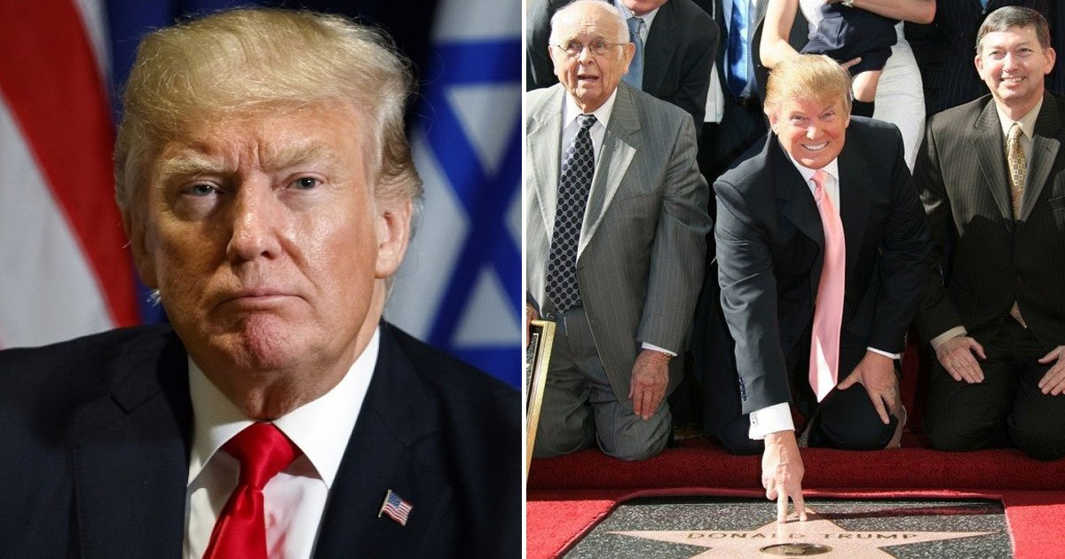 donald trum star voted for removal.jpg?resize=636,358 - Donald Trump's Star On The Hollywood Walk Of Fame Is Voted For Removal Due To His 'Disturbing Treatment Of Women'