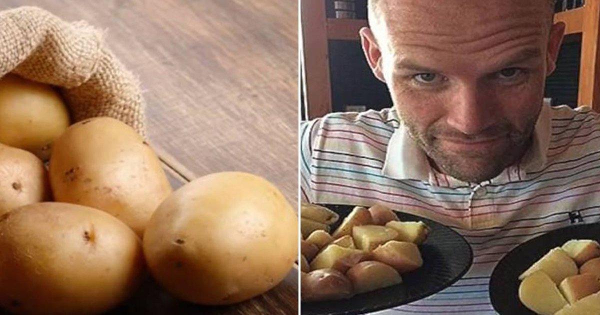 eab090ec9e90.jpg?resize=1200,630 - 1년 내내 '감자'만 매일 먹은 남성의 몸에 나타난 변화