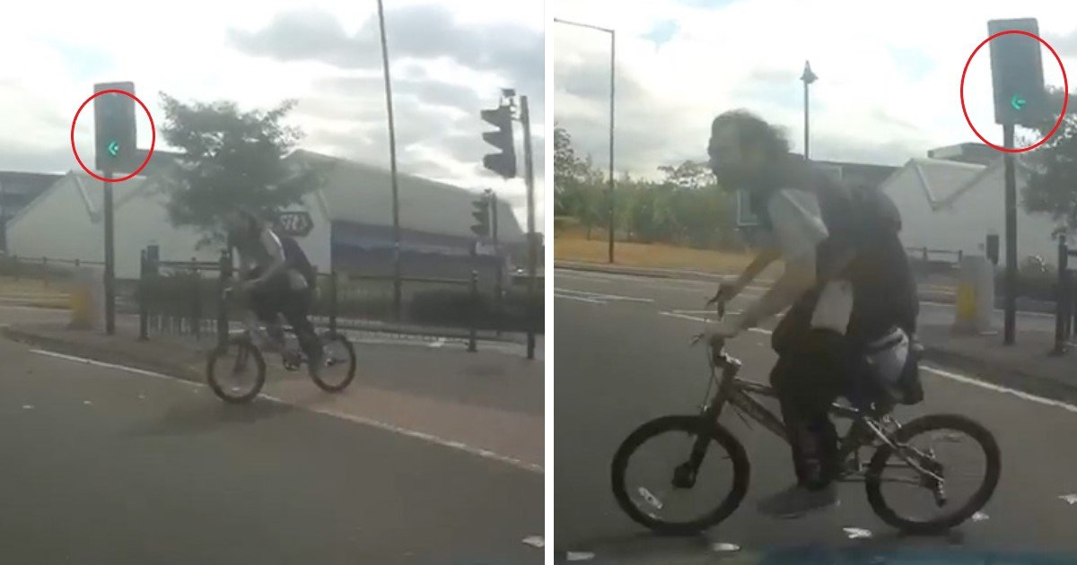 featured image 25.jpg?resize=636,358 - Shocking Footage Shows Cyclist Inches Away From Inevitable Death