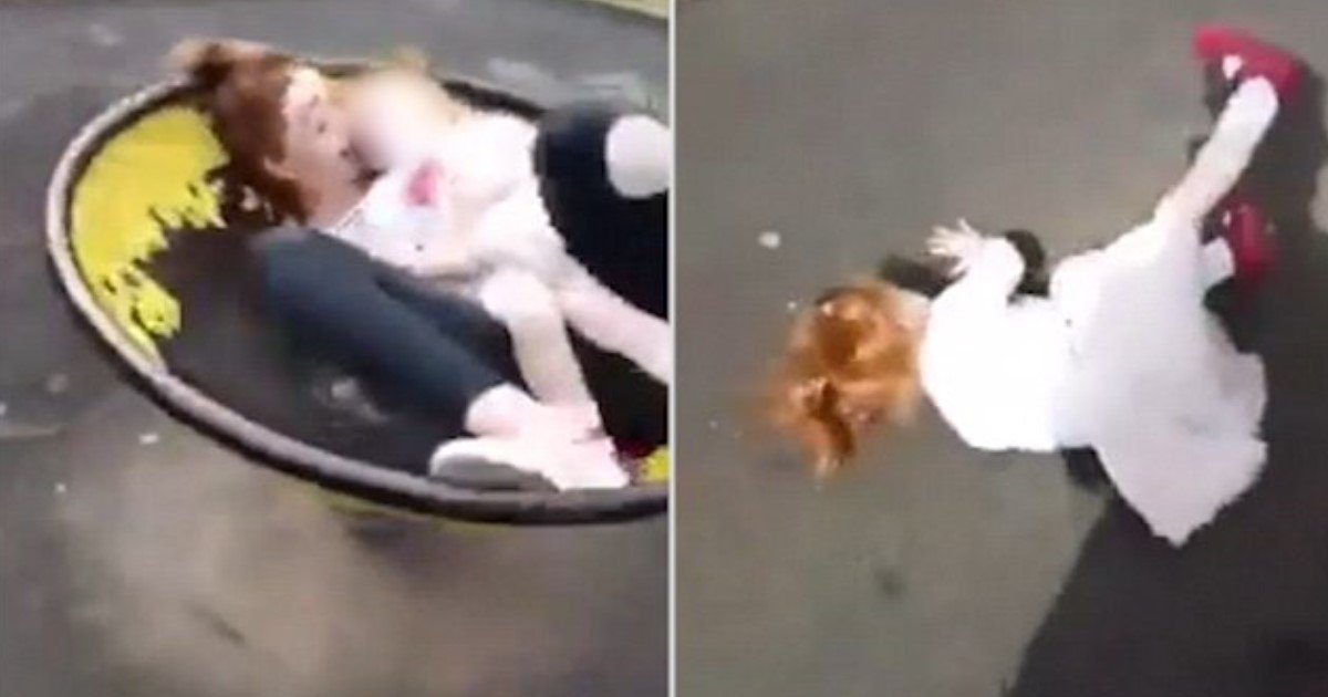 featured image 32.jpg?resize=636,358 - Bradford Mother Who Filmed Her Crying Toddler Being Spun On A Playground Ride Reports Herself To Police Amid Severe Backlash