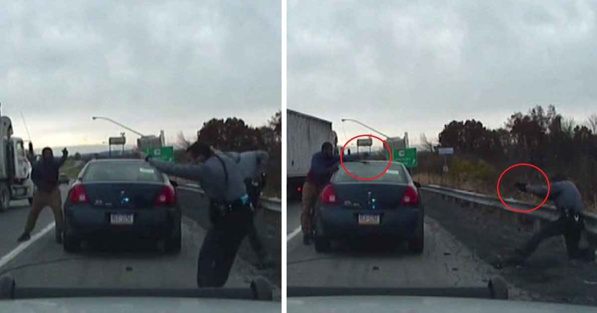 featured image 36.jpg?resize=412,232 - Shocking Dash Cam Footage Shows Dramatic Shootout Between Cops And Man Pulled Over For Speeding