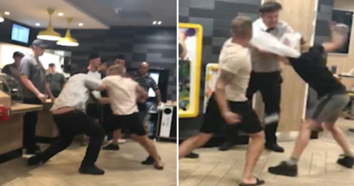 featured image 37.jpg?resize=412,232 - Thuggish Brothers Brutally Attack McDonald's Manager As People Watch And Nobody Comes To Help