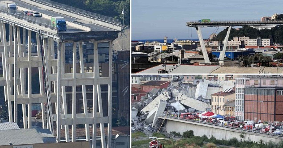 featured image 50.jpg?resize=636,358 - Truck Driver Who Stopped Just Inches Short Of Tragedy During The Genoa Bridge Collapse Tells Of Miraculous Escape