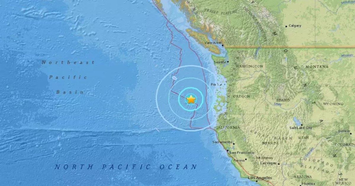 featured image 68.jpg?resize=1200,630 - 6.2 Magnitude Earthquake Off The Coast Of Oregon Hits The Pacific, Prompting Fears Of Tsunami