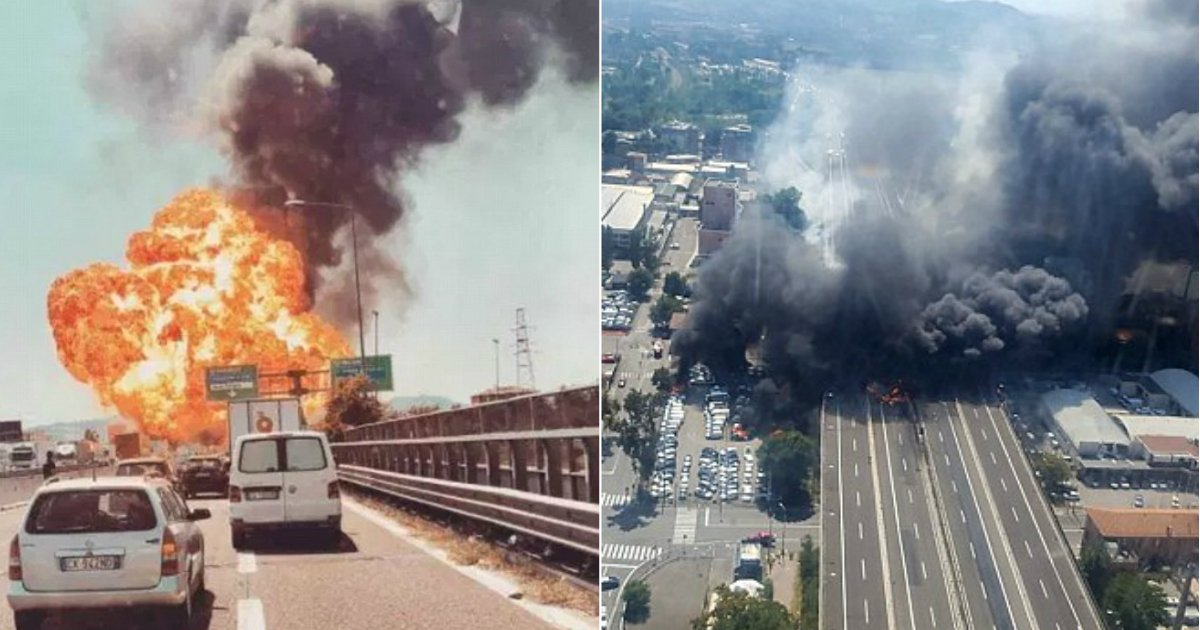 gas explosion.jpg?resize=636,358 - CCTV Footage Reveals Gas Tanker Colliding With Truck And Causing Massive Explosion