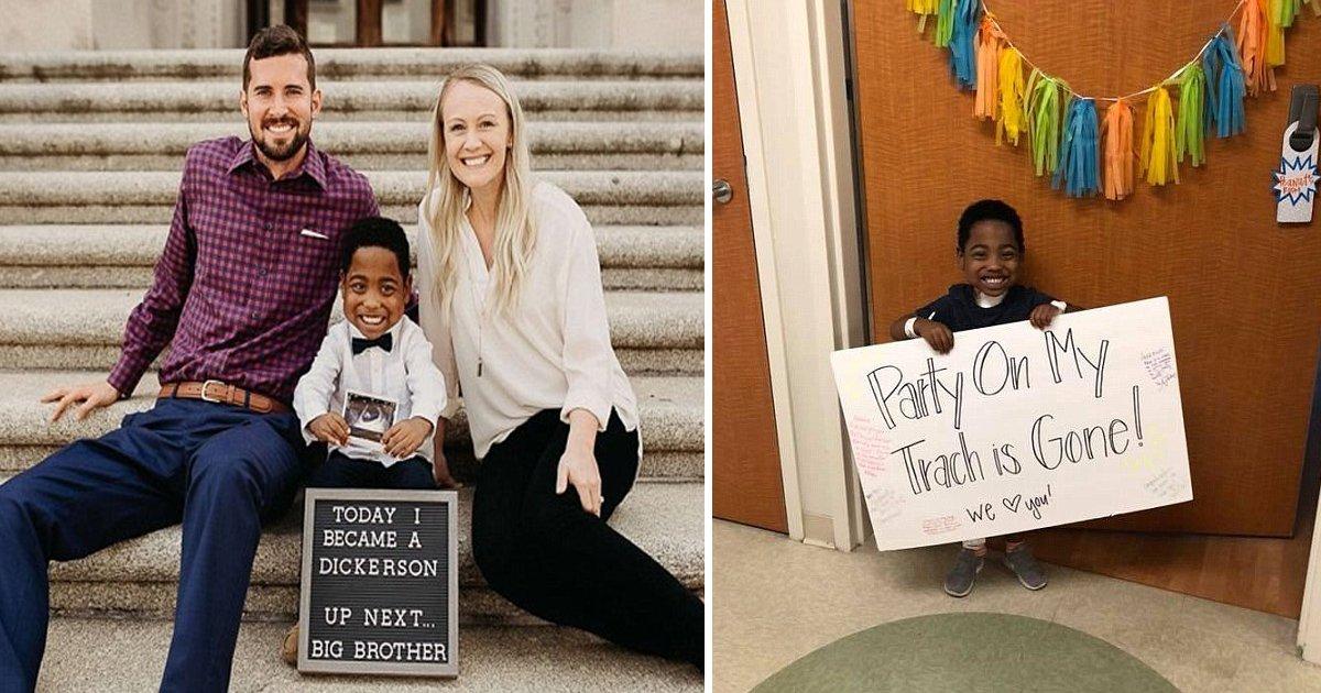 gasaga.jpg?resize=412,232 - Un garçon de 4 ans découvre qu'il sera grand frère le jour même de son adoption.