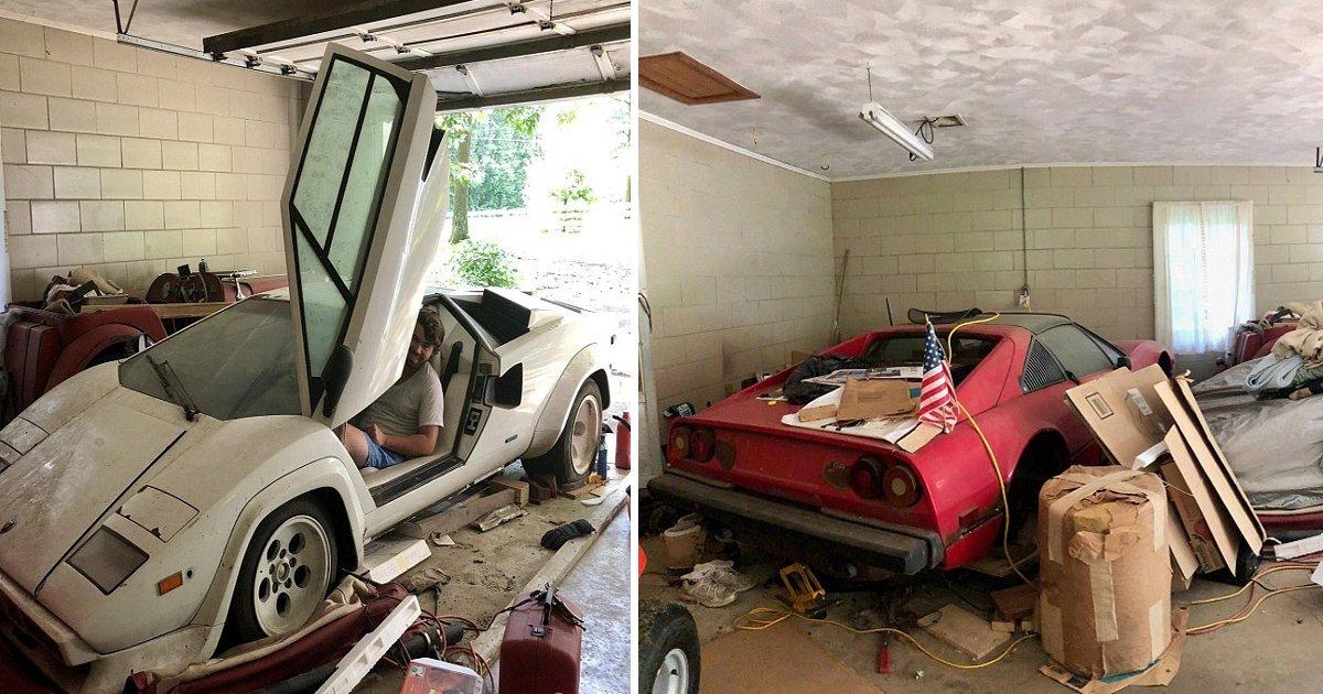 ggaa.jpg?resize=412,232 - Um estudante dos EUA encontra 2 supercarros escondidos na garagem da sua avó