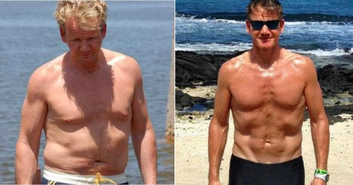 gordon workout.jpg?resize=1200,630 - Gordon Ramsay Loses A Whopping 55 lbs And Shares Photos Of His Ripped Body On Instagram